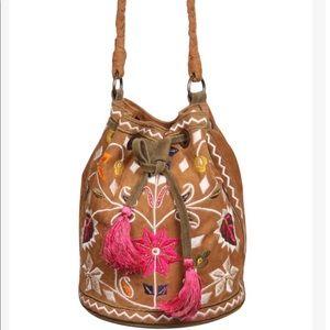 Handbags - Beautiful Boho Embroidered Drawstring Bucket style